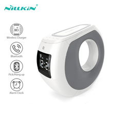 Bluetooth Speaker NILLKIN Stereo Subwoofer Sound System Clock Alarm Qi Wireless Phone Charger Led Speakers For iPhone Xiaomi