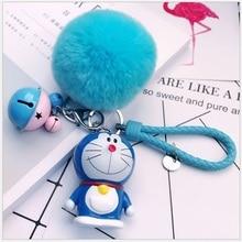 Lindo juguete de acción de dibujos animados Figur doraemon muñeco de gato pequeño colgante pequeño bolso de mujer llavero de coche regalos creativos de San Valentín