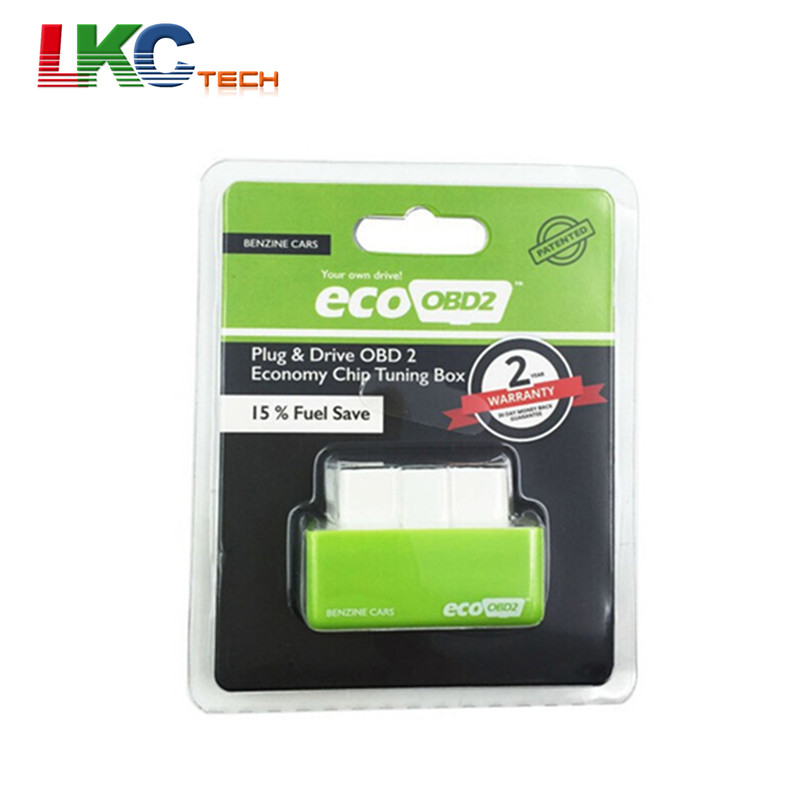 10pcs lot green ecoobd2 economy chip tuning box obd car. Black Bedroom Furniture Sets. Home Design Ideas