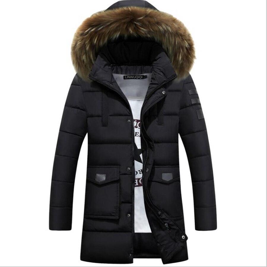 fashion 2016 New Winter Jacket Men Cotton Man Long Thick Warm Casual Hooded Jacket Coat winter