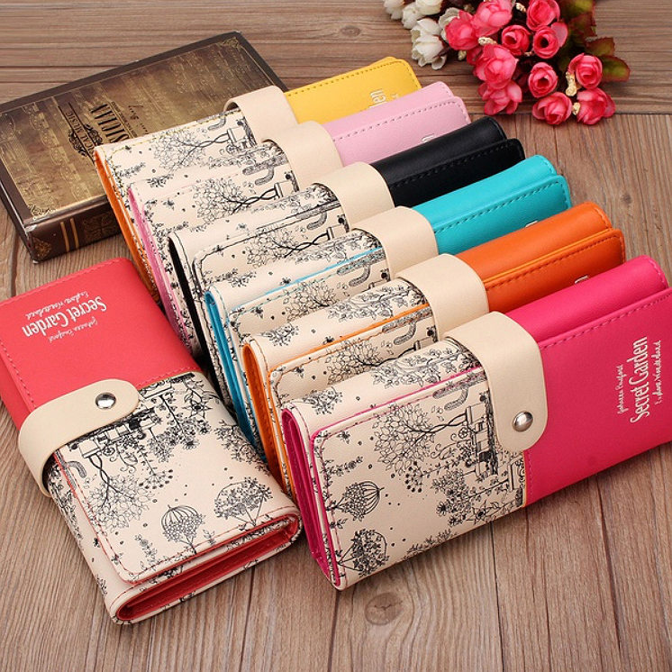 Women Wallets Coin-Purse Clutch Female Long Brand Id-Cards-Holder Design Hasp