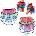 Tutu Mini Skirt Sexy Tulle Ballet Belly Dance Clubwear Saia Faldas Organza Skirt Women Girl Casual Colorful Skirts 51