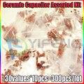300 pcs 30 valor 50 V Capacitor Cerâmico Assorted Conjunto kit Sortido
