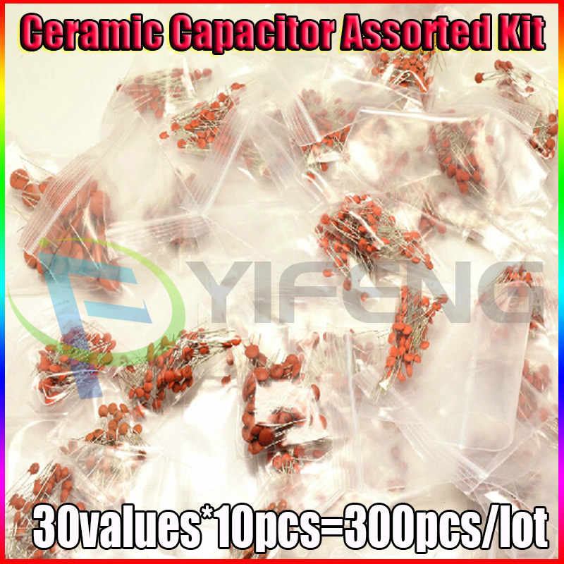 300pcs 30value 50V Ceramic Capacitor Assorted Kit Assortment Set