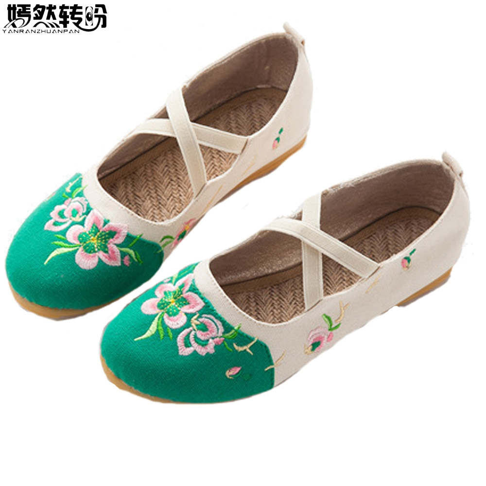 2018 New Flats Women Floral Embroidery Shoes Ladies Dance Ballets Linen Soft Drive Single Shoes Womam Zapatillas Mujer Casual 2017 new summer zapato women breathable mesh zapatillas shoes for women network soft casual shoes wild flats casual shoes
