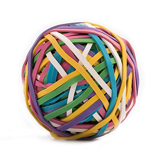 Rubber Band Ball,170 Bands Per Ball,Assorted Color