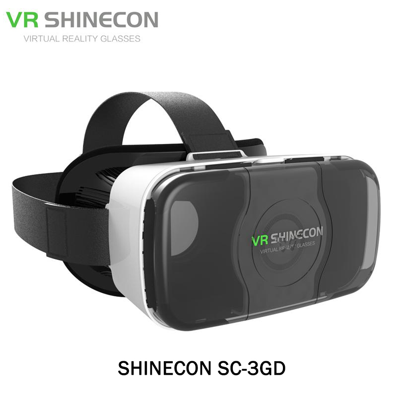 Original VR SHINECON SC-3GD VR Headset Virtual Reality 3D Glasses for 4.4-6 inch Phone 80-90 VR SHINECON SC-3GD VR Headset vr shinecon 3d vr headset