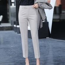 3 couleurs pantalons droits pour femmes bureau navettage femmes pantalon Slim pantalon femmes printemps automne taille haute pantalon femmes