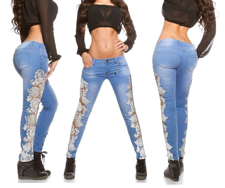Womens Tapered Jeans