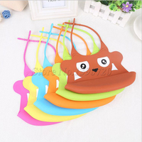 New Arrival Silicone Cartoon Baby Bib Baby Skin Aprons Eat Solid Convenient Health Silicone Waterproofing Aprons