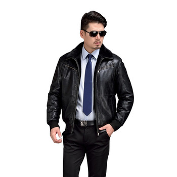 AIBIANOCEL Mens Winter Leather Jacket Thicken With Fur Warm Jaqueta De Couro Masculino Fur Collar Men PU Leather Jacket Biker