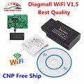 Nueva Llegada Original Diagmall ELM327 WiFi OBD2 OBDII de Diagnóstico Auto Del Explorador V1.5 DEL OLMO 327 Wifi Inalámbrico Para IOS y Android