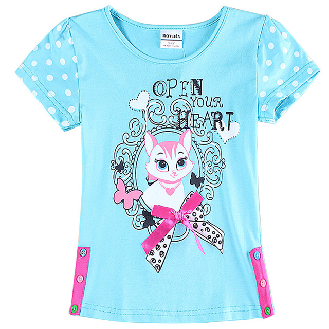 2 6t Blue T Shirts For Girls Brand Girl T Shirt Kids T