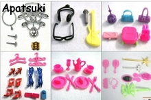 50pcs set Doll Accessories For Barbie Dollhouse Kids font b Toy b font Mix Style Necklace