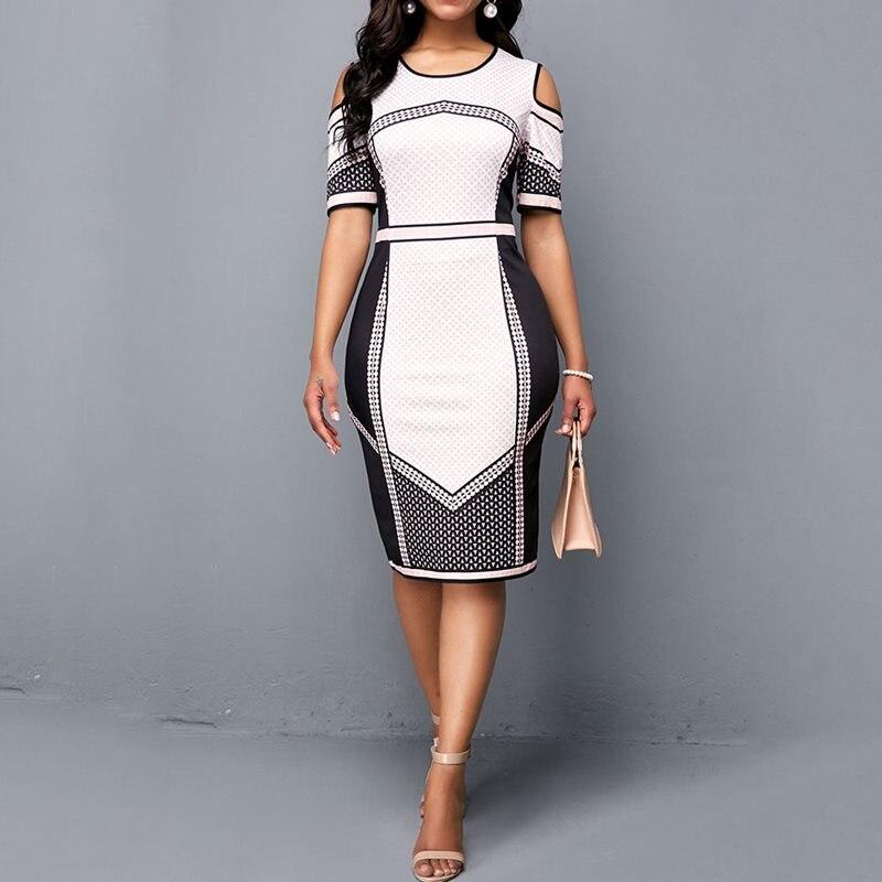 Summer Elegant Sexy Vintage White Plus Size Women Midi Dresses Bodycon OL Ladies Hollow Black Girl Female Retro Green 2019 Dress Рубашка