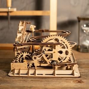 Image 3 - Robotime DIY Cog Coaster Đá Cẩm Thạch Chạy Trò Chơi Mô Hình Bằng Gỗ Xây Dựng Bộ Dụng Cụ Lắp Ráp Đồ Chơi Quà Tặng Cho Trẻ Em LG502