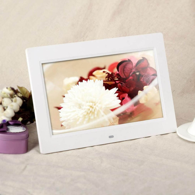 Picture Frame 10.1″ HD TFT-LCD 1024*600 Digital Photo Frame Alarm Clock MP3 MP4 Movie Player with Remote Desktop