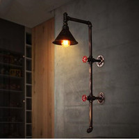 Loft vintage industrial style decoration restaurant engineering lighting bar corridor balcony creative pipe wall lamp .|Wall Lamps|Lights & Lighting -