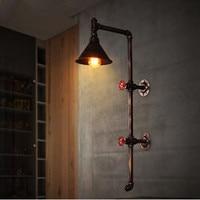 Loft vintage industrial style decoration restaurant engineering lighting bar corridor balcony creative pipe wall lamp .