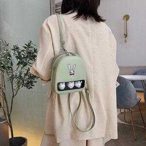 Image 3 - Màu Vàng Dễ Thương Vịt Rõ Ràng Ita Bookbags Nữ Hoạt Hình In Hình Ba Lô Nữ Mini Schoolbags Cho Bé Gái Lưng Bằng Pu Gói 2019 hot