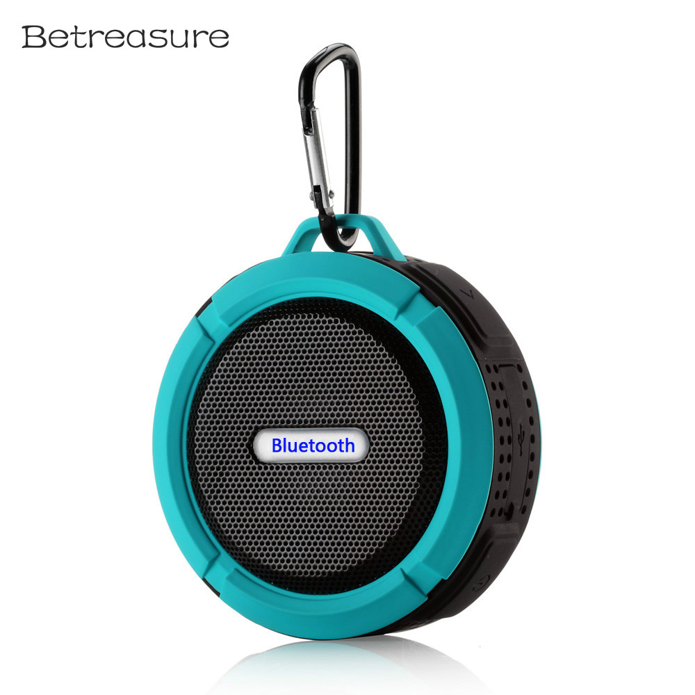 Betreasure BS06 Metal Outdoor Portable Bluetooth Speaker Waterproof Speakers Mini Stereo Sucker Wireless Subwoofer For Phone
