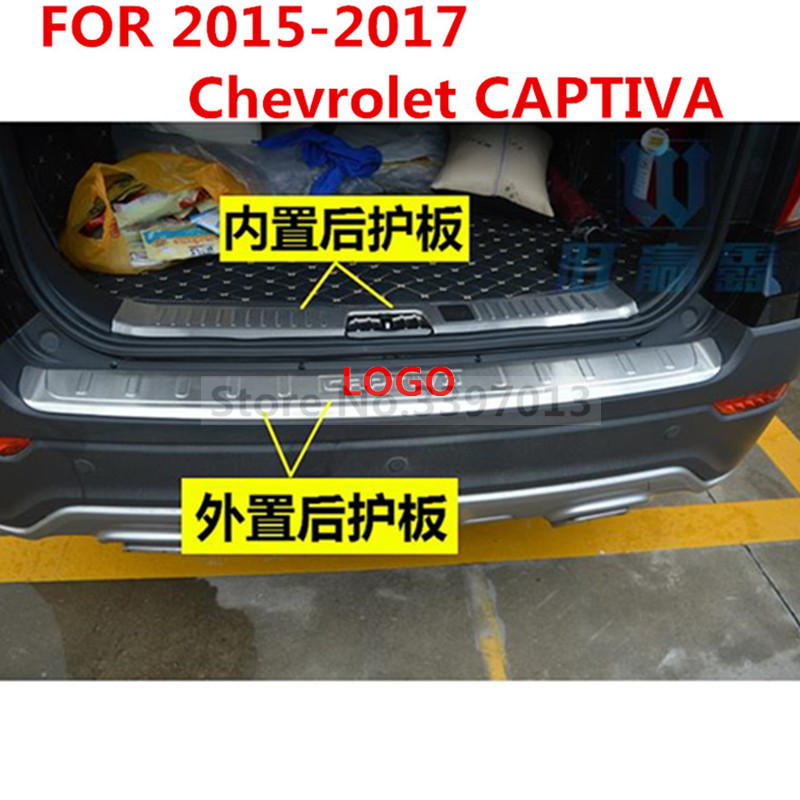 Car styling FOR 2015 2017 Chevrolet CAPTIVA Stainless Steel Tail inside and outside prevent friction protection