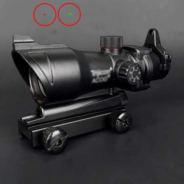 ACOG 1X32 Red Dot Sight Optik Senapan Lingkup ACOG Red Dot Lingkup Berburu Lingkup dengan 20 Mm Rail untuk Airsoft Gun