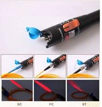 10 mW Localizador Visual da Falha da Fibra Óptica Cable Tester Fonte de Laser 10 KM Gama, VFL10C