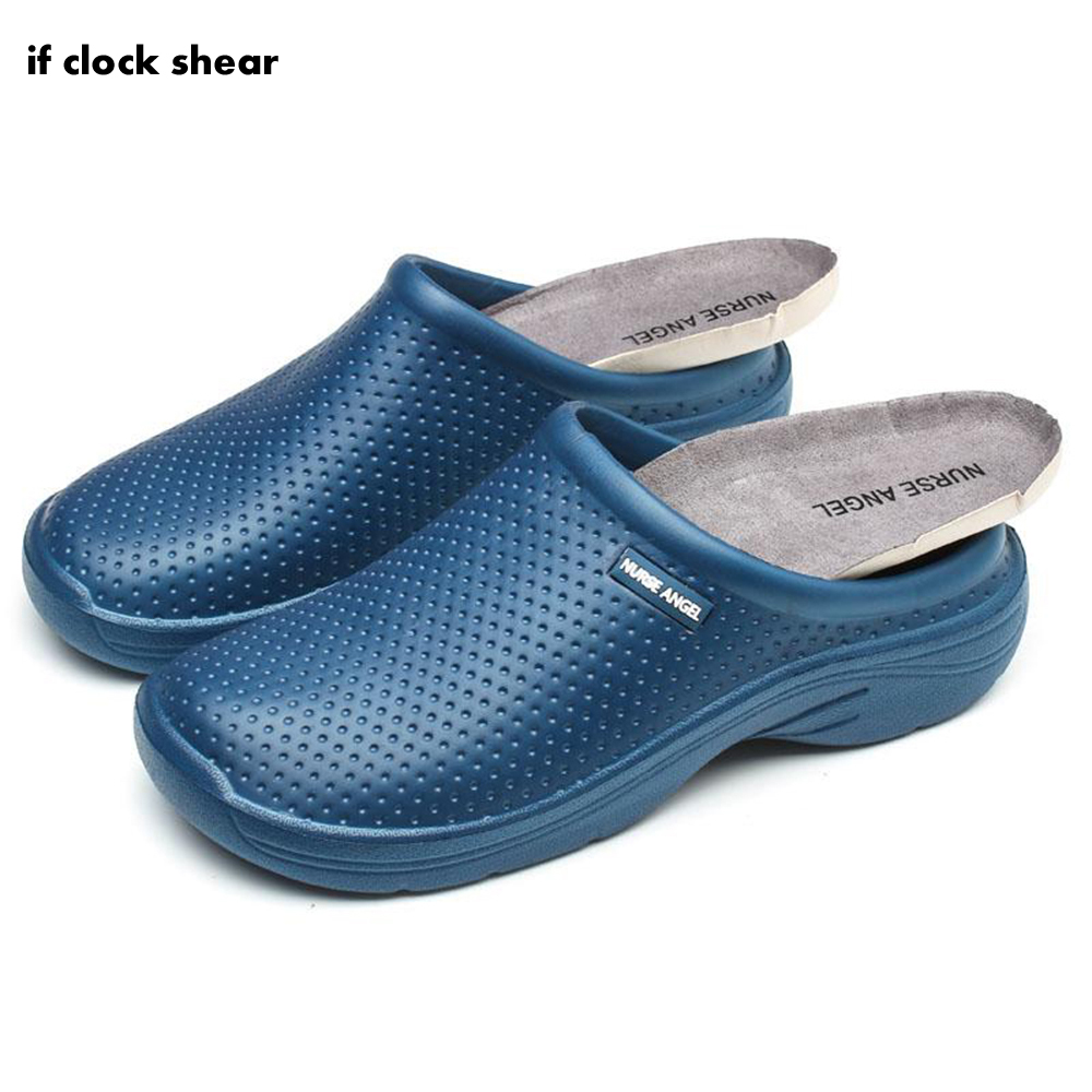Non-slip Work Medical Doctor Slipper Operating Room Special Shoes Anti-slip Hole Thick Bottom Surgical Nurse Shoes Female Male