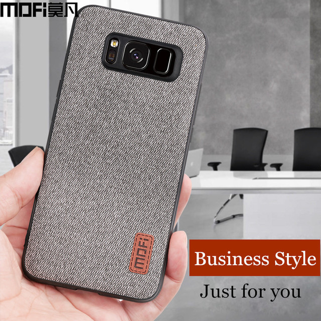 MOFi Samsung Galaxy S8 S8 Plus Luxury Fabric Shockproof Back Case Cover
