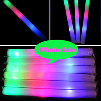 100Pcs/ Lot Colorful Sponge Glow Sticks Foam Stick Concert Birthday Party Holiday Nightlife Raves Wedding Decoration