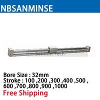 CY3R 32 мм Диаметр Размеры пневматические муфтой бесштоковый SMC подобные Запчасти пневматические Запчасти сжатия воздуха цилиндр Sanmin