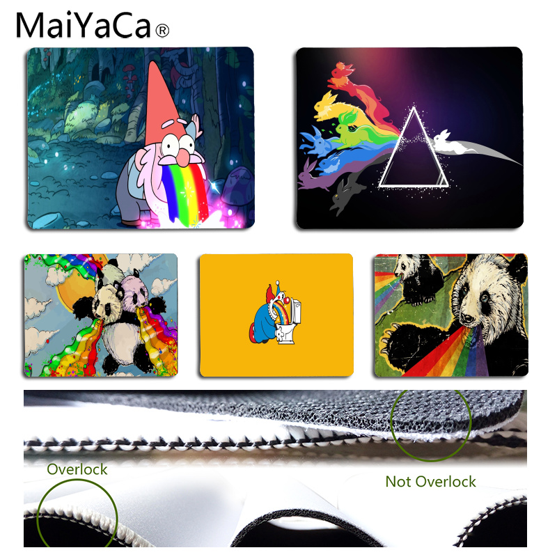 MaiYaCa 2018 New Rainbow Customized laptop Gaming mouse pad Size for 180*220*2mm and 250*290*2mm Mousepad