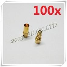 100 пар/лот 3.5 мм Золотая Пуля Разъем Батареи ESC для вертолет автомобилей лодка + Бесплатная Доставка