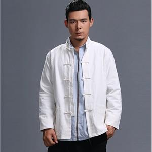 Весенне-осенний Модный китайский стиль ретро лягушка Повседневный хлопковый льняной кардиган мужская верхняя куртка с карманом