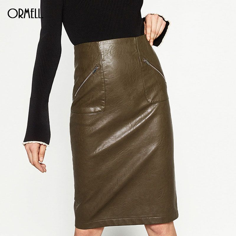 Online Buy Wholesale designer leather skirts from China designer ...