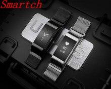 Smartch S18 умный Браслет Водонепроницаемый сердечного ритма шагомер Bluetooth 4.0 крови Давление упражнения трекер OLED Экран Smart Band