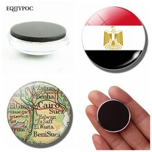 The Arab Republic of Egypt Flag 30 MM Fridge Magnet Flag of Egypt Glass Cabochon Magnetic Refrigerator Sticker Holder Home Decor ants of egypt