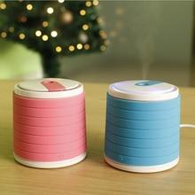Cute Mini Portable USB Car Air Humidifier Ultrasonic LED Light Essential Oil Aroma Diffuser Home Office