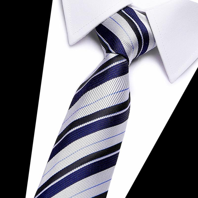 1Piece Korean British Style 7cm Neck Tie Slim Narrow Casual Dot Striped Party Club Salon Pub For Men Women Groom Waiter Waitress
