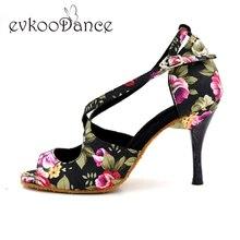 Newest style Girls latin dancing shoes for high thin heel 8.5cm Ladies ballroom latin dance shoes women NL022