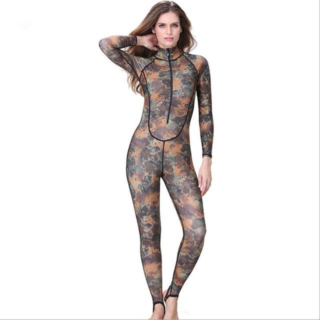 0.5mm lycra women Camouflage wetsuit Surf Freedive Full Swimwear Wetsuit  Diving Skin Suit Rashguard swimwear one piece swimsuit 3f729b05e2fcd