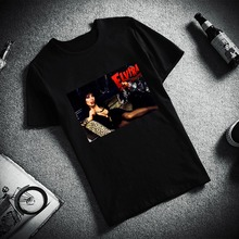 d369a9cd41 Skipoem Funny Tshirt Women Elvira Mistress Dark Custom Cotton O Neck T Shirt  Plus Size Short