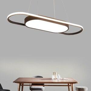 Image 2 - Length 90cm hanging lights White/Black Modern led Pendant Lights For Dining room Kitchent room Bar Pendant Lamp light fixtures