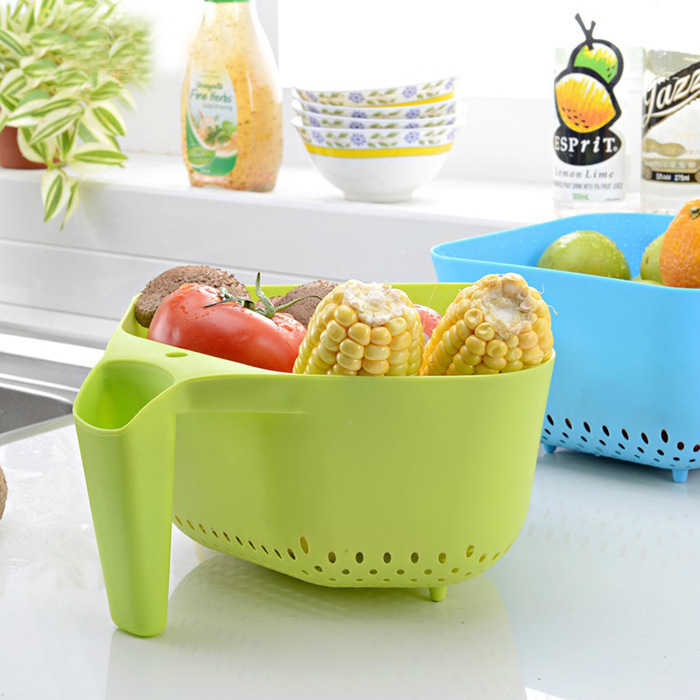 Hot Sale Plastic Rainfall Handle Drop Fruits Vegetables Basket Washer  Kitchen Accessories Home And Garden Stuff Free Shipping On Aliexpress.com |  Alibaba ...