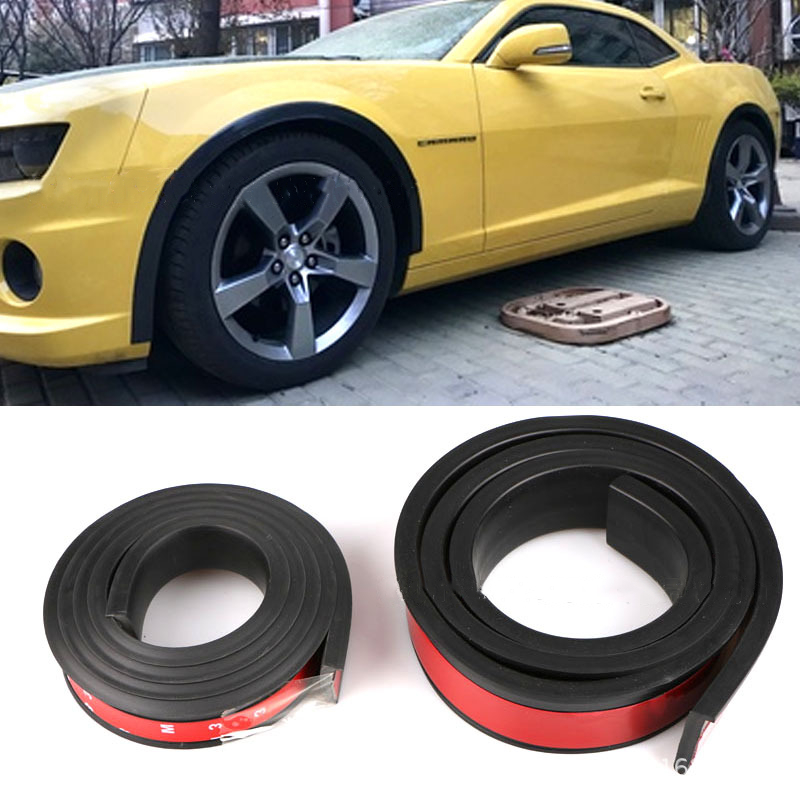 Car Fender Flare Extension Wheel Eyebrow Protector Lip Wheel Arch Trim Wheel Eyebrow Arch Decorative Scratch Proof Black Rubber in Mudguards from Automobiles Motorcycles
