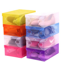 3pcs women clear plastic shoe organizer rack behind door or under bed space saver saving Foldable closet box