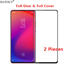 2Pcs For Xiaomi Redmi K20 Pro Glass Tempered for Full Glue Screen Protector