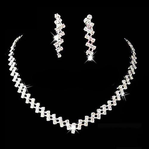 Women Necklace Earring Set...