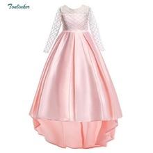 Kids Party Dresses For Girl Toddler Children Trailing Dress Floral Girl Dress Baby Girl clothes Princess Dress 3-12 Year Vestido цены онлайн